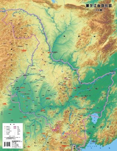 三维光栅裸眼3d黑龙江地图面世图片